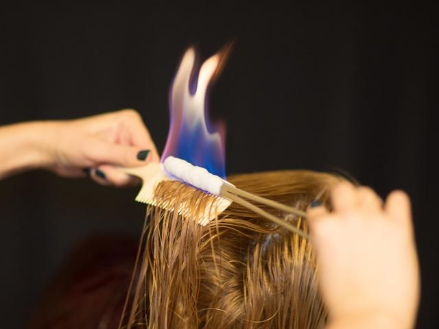 Обжиг волос огнем (пирофорез)
